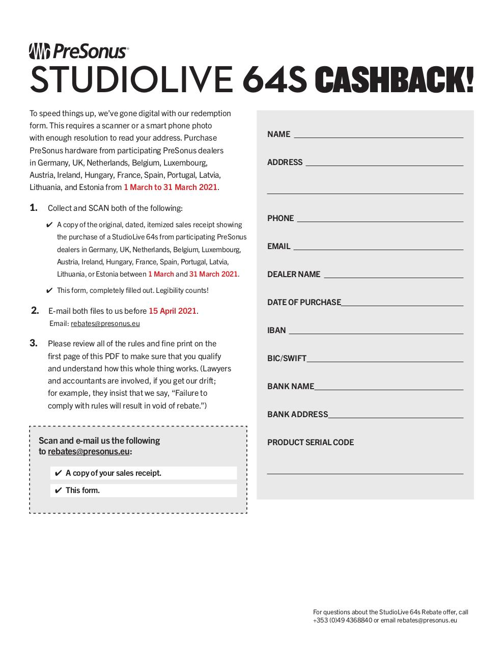 Aperçu du document studiolive64s-rebate-form.pdf - page 2/2