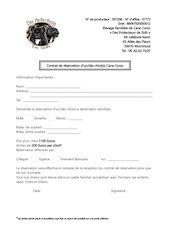 contrat reservation
