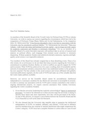 letter from the tcpds scientific board