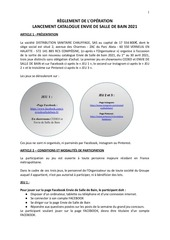 reglement concours facebook 2021  edsb