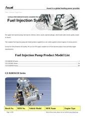 liste des modeles de pompe dinjection bosch