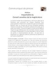 communiqueconseil canadien de la magistraturefacebook