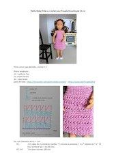 petite robe dete au crochet pour poupee kruseling de 23 cm