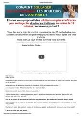 soulager douleurs arthrite pv