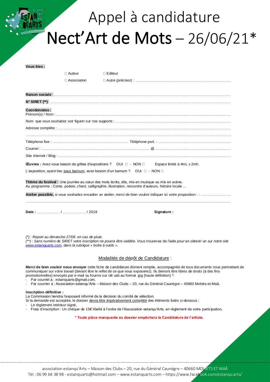 Aperçu du document NdM Appel à Candidature Auteurs, Éditeurs, etc....pdf - page 1/1
