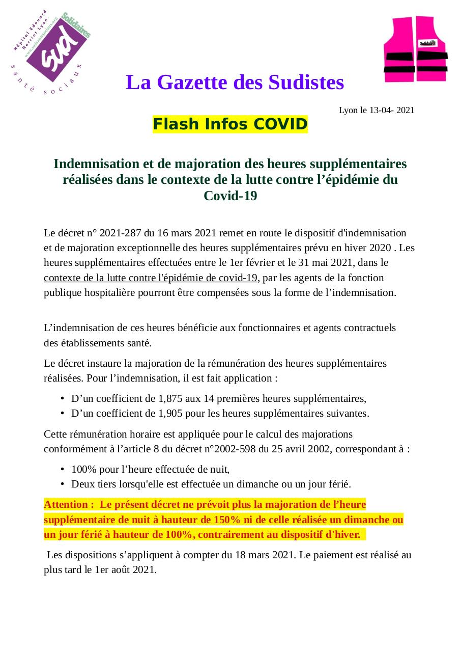 Aperçu du document La Gazette des Sudistes Flash Infos HEH 13 avril 2021.pdf - page 1/2