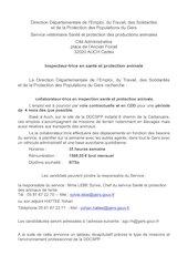 offreemploidd32inspecteur sante et protection animalesmars 2021