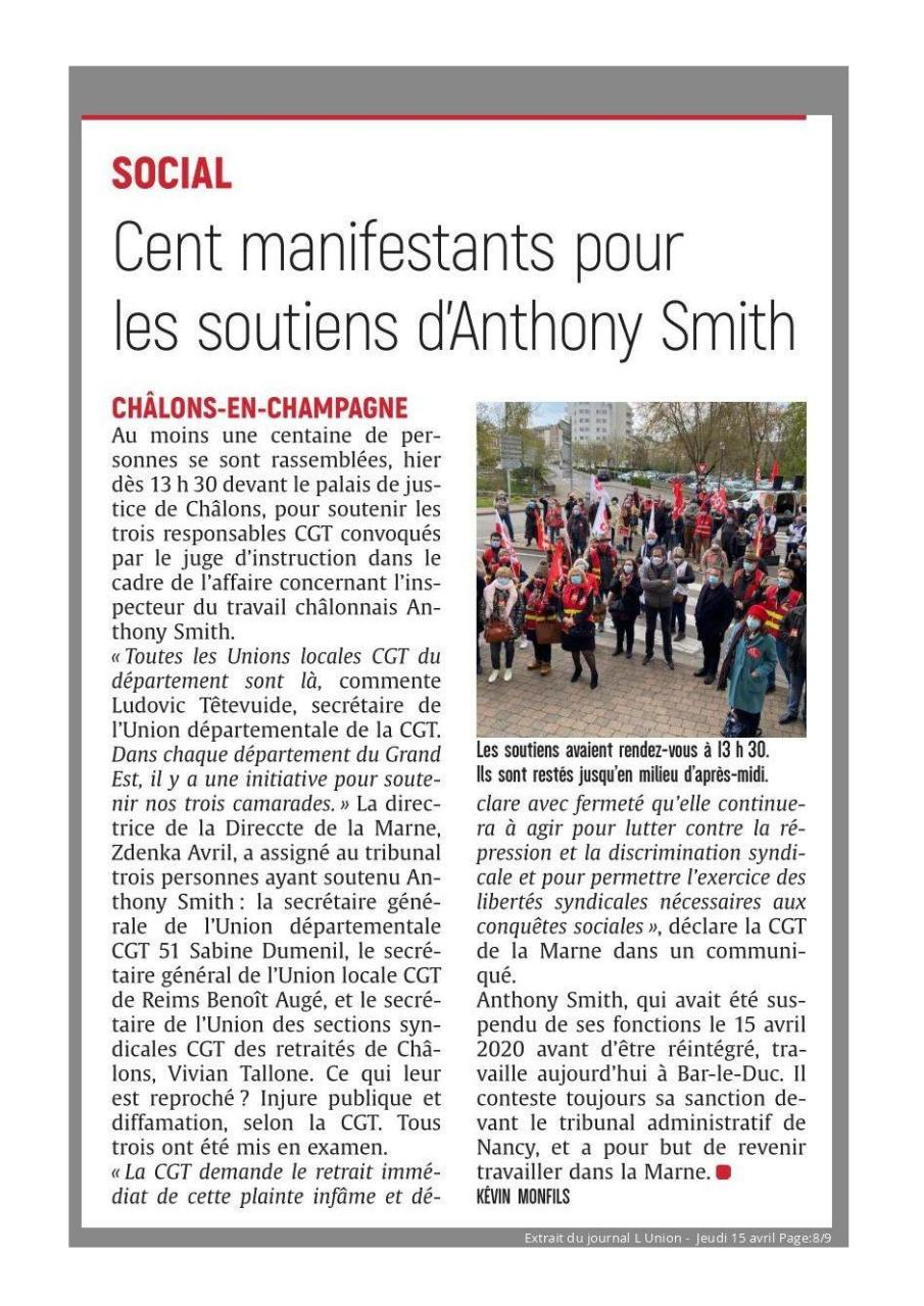 Aperçu du document L'Union S15 - Cent manifestants pour les soutiens d'Anthony Smith.pdf - page 1/1