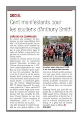 lunion s15   cent manifestants pour les soutiens danthony smith