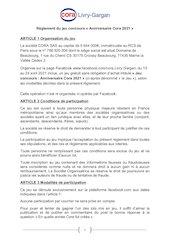 reglement du jeu anniversaire cora 2021