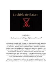 la bible de satan