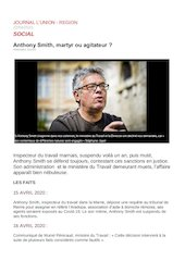 lunion s16   anthony smith martyr ou agitateur