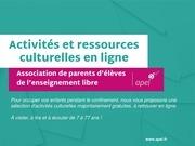 activites et ressources culturelles en ligne 1