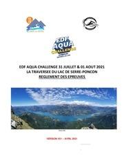 reglement serre poncon edf aqua challenge v1 2021