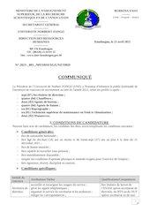 unzcommunique recrutement 2021