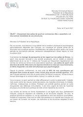lettre ouverte president de la republique sport essentiel 270420
