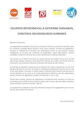 courrier intersyndical a catherine chavanier drh   2021 04 30