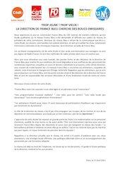 declaration intersyndicale   commission france bleu22   2021 04