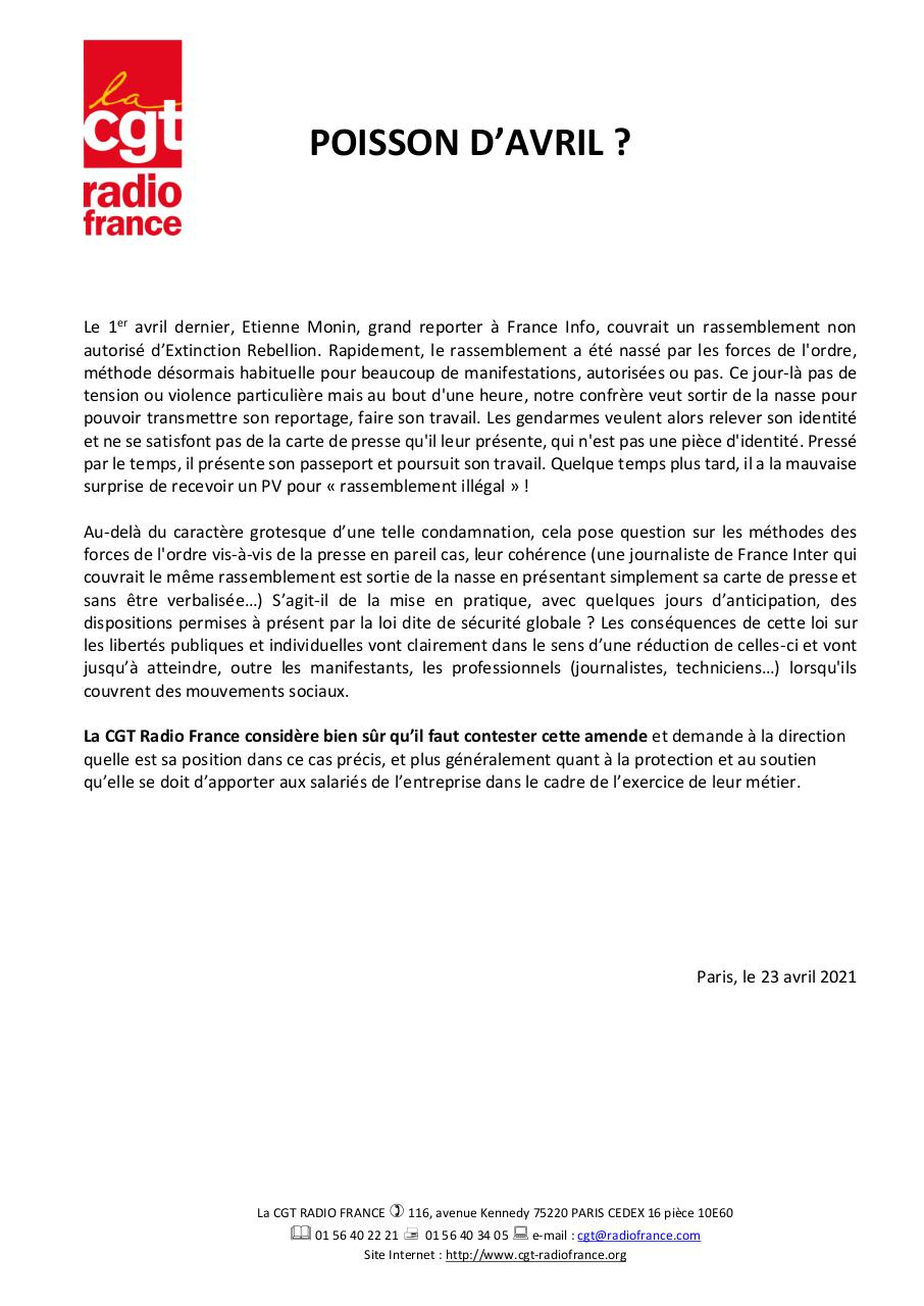 Aperçu du document Tract CGT RF -%22Poisson d'avril%22 - 2021-04-23.Pdf - page 1/1