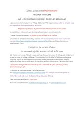 expo photo annonce