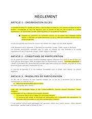 reglement type jeux concours