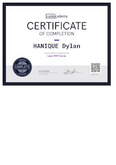 certif codecademy php