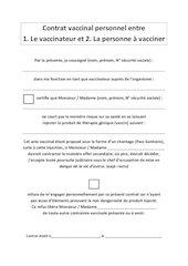 contrat vaccinal personnel entre