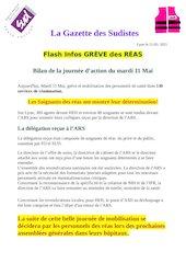 la gazette des sudistes flash infos2 greve reas heh 11 mai 2021