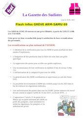 la gazette des sudistes flash infos greve  arm samu 69 19 mai 20