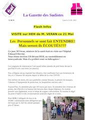 la gazette des sudistes flash infos 2visite de m veran heh21 mai