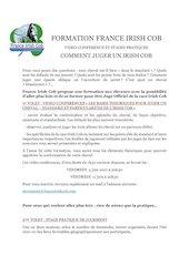 formation france irish cob juge 2021