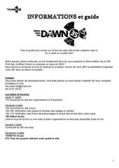 dawn 35   guide et feuille de route