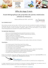 stage etude biblographique infusions