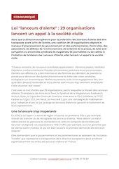 communique presse appel lanceurs dalerte  petition