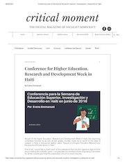 conferencia para la semana de educacion superior investigacion y