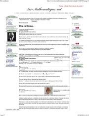 cardinal quantitatif en 2007 titre original mes cardinaux p2
