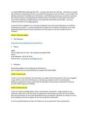 mentions legale pour site internet  1