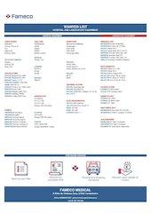 fameco medical wanted list gh en