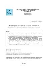 vdr wmr lettre aux communes wallonnes14062021