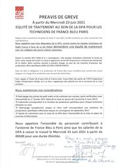 preavis de greve france bleu   mercredi 23 juin 2021