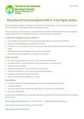 educateur trice francophone juin 2021