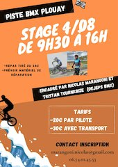 affiche stage plouay