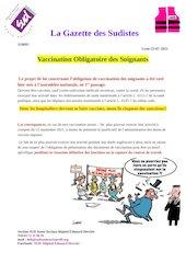 la gazette des sudistes flash infos vaccination obligatoire des