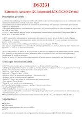 ds3231 datasheet fr