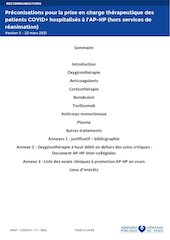 aphp covid19 ft 0062 recommandations de prise en charge therapeu