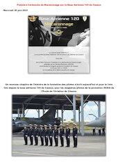 premiere ceremonie de macaronnage sur la base aerienne 120 de ca