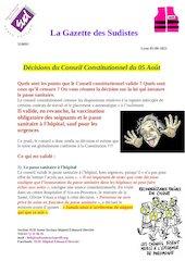 la gazette des sudistes flash infos decision du conseil constitu