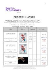 zenith pau programme 2021 2022