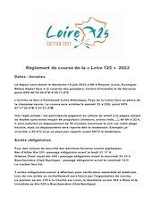 reglement de course loire 725 au 16 09