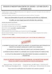 dossier inscription complet octobre 2021 pdf